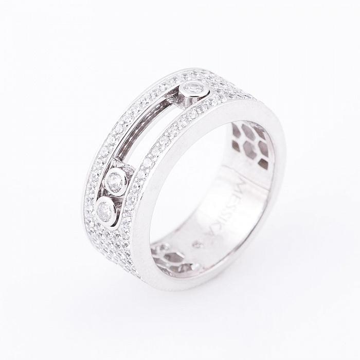 Серебряное кольцо Балтимор с фианитами в стиле Мессика 000080126
