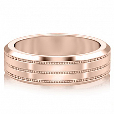 Мужское золотое обручальное кольцо Тайна: Бесконечность