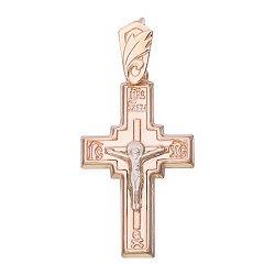 Золотой крестик Вечная жизнь 000046356