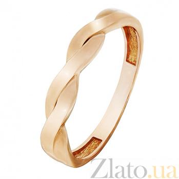 Кольцо из красного золота Косичка 000023851
