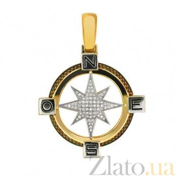 Подвеска Путеводная Звезда из желтого золота VLT--Т3312-1