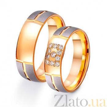 Золотое обручальное кольцо Элегантность стиля с фианитами TRF--412458