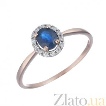 Золотое кольцо с сапфиром и бриллиантами Роксана 1К309-0170
