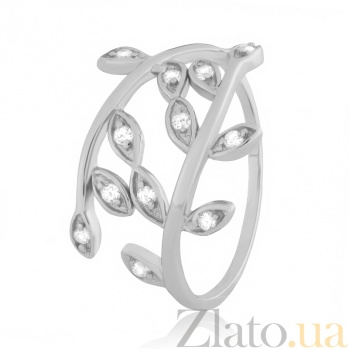 Серебряное кольцо с цирконием Лавр 000025733