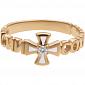 Золотое кольцо с бриллиантом и эмалью Спаси и Сохрани 000029390