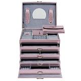 Шкатулка для украшений Lucento с зеркалом розовая