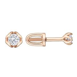 Золотые серьги-пуссеты Долорес с бриллиантами