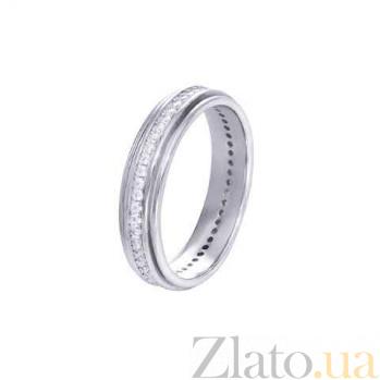 Серебряное кольцо-дорожка с цирконами AQA--XJR-0070