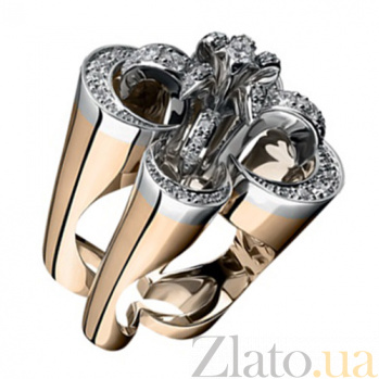 Золотое кольцо с бриллиантами Императрица KBL--К1774/комб/брил