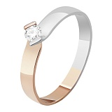 Золотое кольцо с бриллиантом Искренность чувств