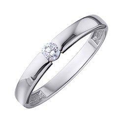 Кольцо из белого золота с бриллиантом 000139278