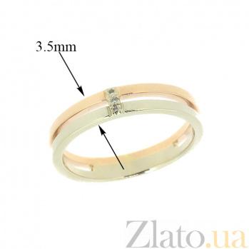 Кольцо из комбинированого золота с бриллиантами Таира 000021449