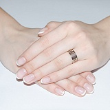 Золотое обручальное кольцо Свадебный оберег