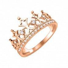 Золотое кольцо-корона Императорское с фианитами