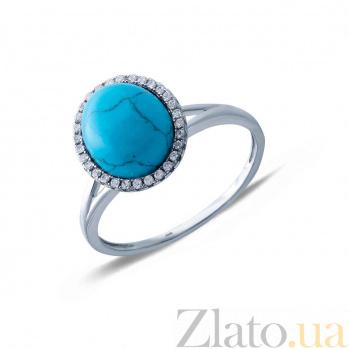 Серебряное кольцо с им. бирюзы Велари AQA-R0424tq_akv