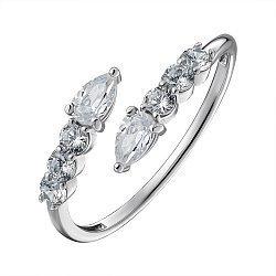 Серебряное кольцо с фианитами 000148301