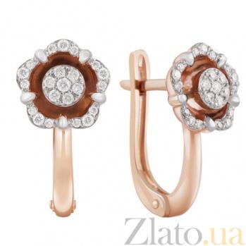 Золотые сережки Сабрина с бриллиантами KBL--С2516/крас/брил