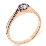 Кольцо из красного золотоа с брилилантом Noor