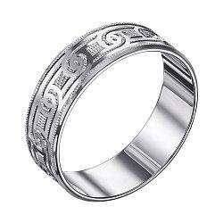 Серебряное обручальноекольцо с насечками 000129729
