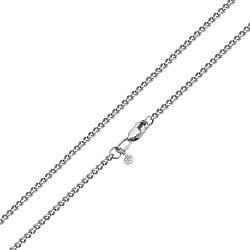 Золотая цепь Прованс панцирного плетения в белом цвете с алмазной гранью, 2мм
