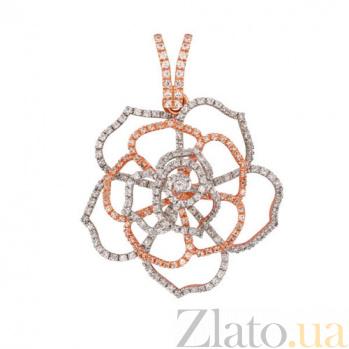 Кулон из красного золота Азалия с цирконием VLT--ТТТ3413-3