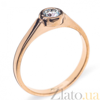 Кольцо из красного золотоа с брилилантом Noor R 0411/крас