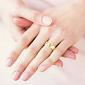 Обручальное кольцо из желтого золота Мой милый ангел: Лёд и пламя 484