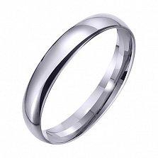 Обручальное кольцо из белого золота Лада