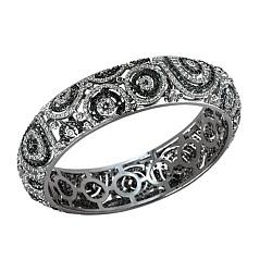 Золотой браслет Вирджини с черными и белыми бриллиантами