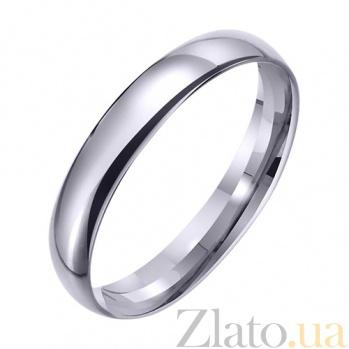 Обручальное кольцо из белого золота Лада TRF--421755