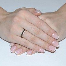 Золотое кольцо Фортуна с цирконием