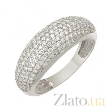 Кольцо в белом золоте Полина с фианитами 000022838