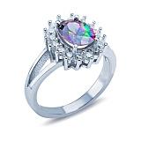 Серебряное кольцо с мистик топазом Фиорентина