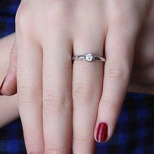 Серебряное кольцо Саманта с цирконием