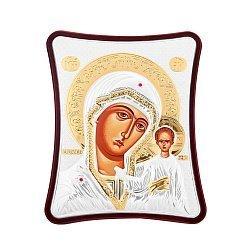 Икона Казанская Божия Матерь с серебрением и позолотой 000123440