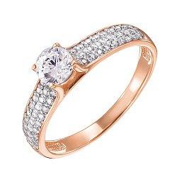 Золотое кольцо Бренда в комбинированном цвете с фианитами