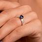 Золотое кольцо с бриллиантами и сапфиром Delight 000027220