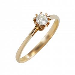 Золотое помолвочное кольцо с бриллиантом Избранная