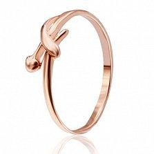 Серебряное кольцо Верналь с позолотой