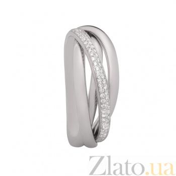 Кольцо из белого золота с бриллиантами Серпантин 1К036-0323