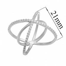 Серебряное кольцо Гвендолайн с фианитами