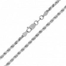 Серебряная цепь Монреаль с родированием, 1,5 мм