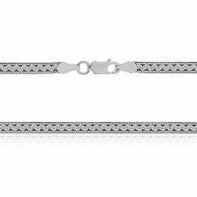 Серебряная цепь Этно с чернением, 45 см