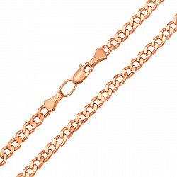 Золотая цепь Прованс в красном цвете в панцирном плетении