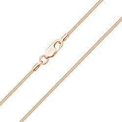 Цепочка из красного золота в плетении снейк, 2 мм 000004374