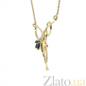 Колье из красного золота с сапфирами и бриллиантами Камила ZMX--NS-6292_K