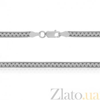 Серебряная цепь Этно с чернением, 45 см 000027370