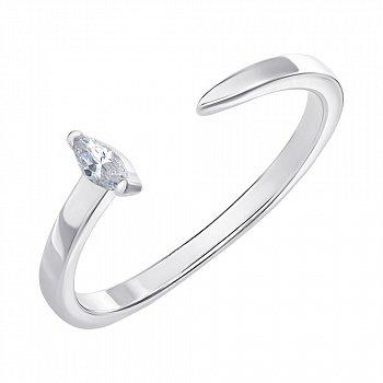 Серебряное кольцо с фианитом 000146109