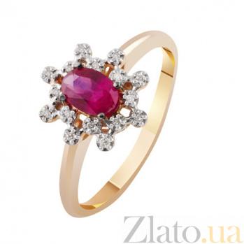 Золотое кольцо с рубином и бриллиантами Афина KBL--К1972/крас/руб