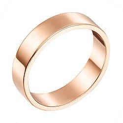 Обручальное кольцо из красного золота 000000349